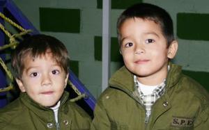 Fausto y Carlos López Tovar captados el día de su cumpleaños