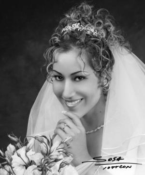 Srita. Ana Luisa Silva Pérez el día de su enlace nupcial con el Ing. Román Horacio Ayala Valdez