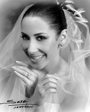 Lic. Ana Sofía Soltero Meléndez, el día de su enlace nupcial con el Sr. Antonio Miñarro Dingler