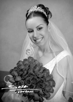 L.E.D María Eugenia Favila Tinoco el día de su enlace nupcial con el L.I.N Arturo Márquez Ayala