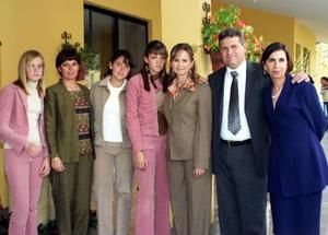 Estefanía Berlanga, Ana Lucía  de García, Celina Berlanga, Ana Tere Berlanga, Tere de Berlanga, Jesús Berlanga y Samía Giacomán