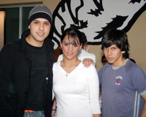 Rodolfo Martínez Paulina ALdaba y Arturo Bejarano.