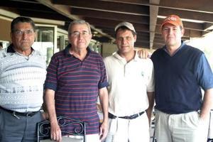 Santiago Torres, Toño Dueñes, David Murra y Antonio Dueñes