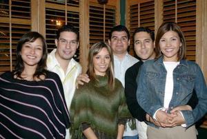 Salim Fahur, Martha de Fahur, Juan Carlos Colores, Emma de  Colores, Jorge Méndez y Karla de Méndez.