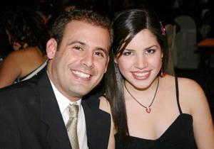 Luis Felipe Pérez y Gaby Robles.