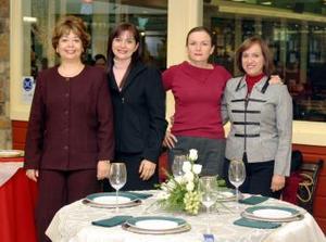 Anabel González, Lupita de Lara, Graciela Rimada y Silvia  de Porragas.
