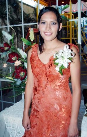 Anahí Rodríguez el día de su despedida de soltera