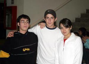 Baltazar López, Marco Martínez y Génesis López