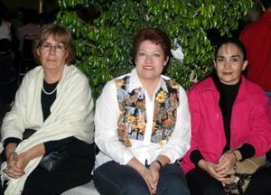Isela Cardona, Rosy Gómez y Margarita Valenzuela