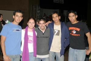 Raúlm Guzmán, Kenia Vallejo, Rafael Blando, Alejandro Hinojosa y Francisco Ramos