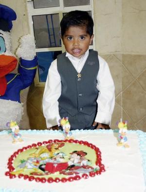 Víctor Morales Reyes el día de su cumpleaños