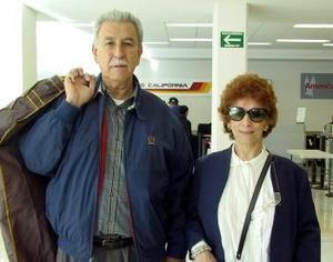 Elsa Tinoco y Guillermo viajaron a México