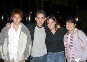 Cristóbal Rodríguez, César Rosas, Ana Isabel Mena y  Xanath FragosoL.