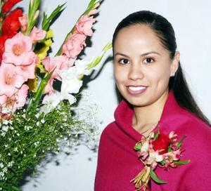 Irma Paola el día de su despedida de soltera.