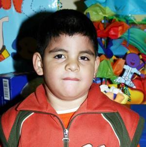 Irving Mauricio Castillo Villegas, captado el día que cumplío cuatro años.