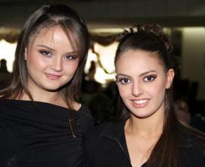<u><i> 27 de noviembre de 2004</u></i><p>  Sara Cruz y María del Carmen Garrido