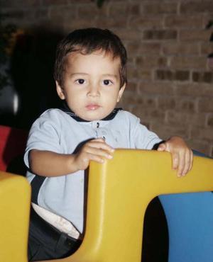Alejandro Pizarro Vázquez captado el día que cumplió dos años de edad
