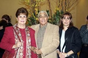Lilia Sotomayor, Ángel Aguilar y Lilia de Llamas