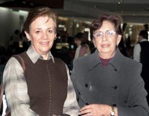 Rosa María de Rico y Guadalupe Martínez