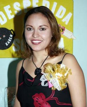 Karen Parra Hernández el día de su despedida de soltera.