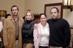 Roberto Graham, Nereida Cuello, Irma Murguín y Nacho Flores