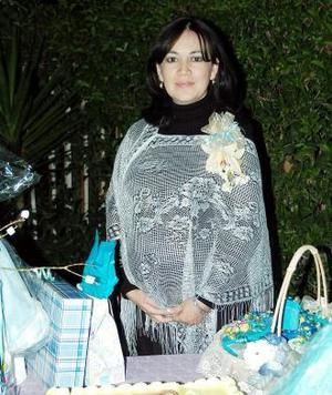Bibiana Delgado de Ochoa, captada en la fiesta de canastilla que le organizaron