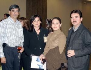Andrés Anaya, Gabriela de Anata, Mirtala de De la Garza y Eugenio de la Garza.