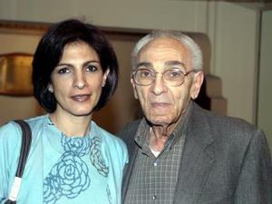 Blanca Zablah y Nessim Zablah.