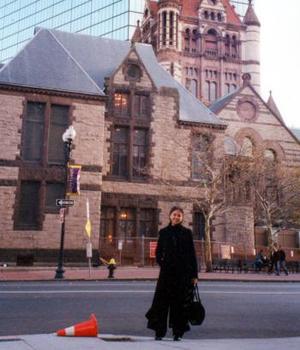 Mayela González Rodríguez, captada en un paseo en Boston .