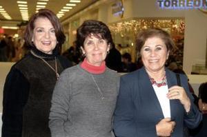Rosa María de Granados, Ángeles de Valdez y Nelda Giacomán