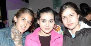 Margarita Sánchez-Gavito, Liliana Ríos y Areli Sánchez