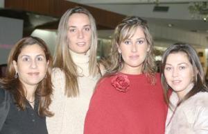 Ana Portilla, Denis Dibildox, Liliana de Russek y Liliana de Jacamán.