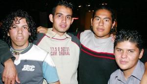 Gerardo Hernández, Érick Ortiz, Víctor Rubio y Luis Miguel Ávila.