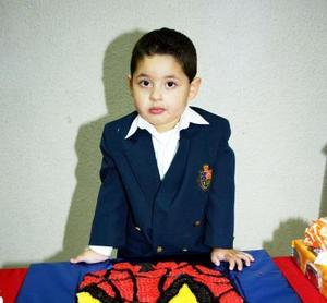 Daniel Ernesto Castrellón cumplió tres años.