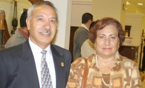 Rogelio Sáenz y Martha San Vicente.