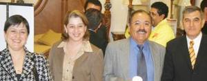 <u><i> 29 de noviembre de 2004</u></i><p>  Silvia Castro, Elba Abdo, Roberto Martínez y Lalo Murra