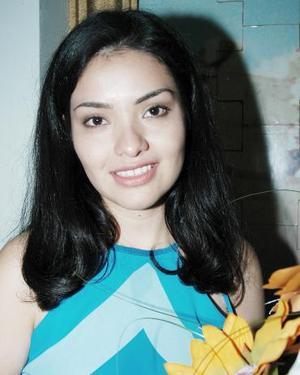 Esmeralda Ramírez en su despedida de soltera.