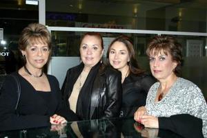 María Eugenia Meléndez, Luz Antonia García, Luz Antonia García y Rosina López.