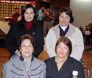 Miriam Soto, Guadalupe López, Teresa Ugarte y Yazmín García.
