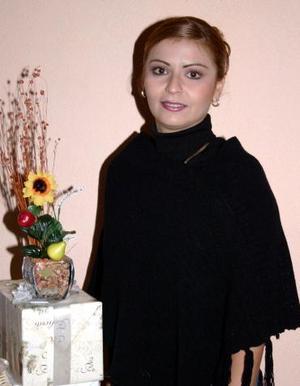 Liliana Pérez García, captada  en la segunda despedida de soltera que le organizaron sus familiares.