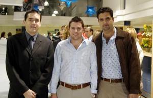 Ricardo Dueñes, Beto Quintero y David Portal