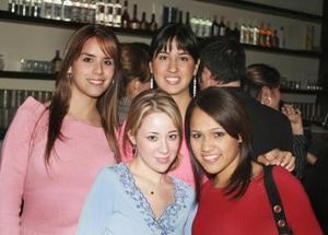 Laura Gasón, Sofía Rodríguez, Paulina Velasco y Grisel Chávez
