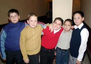 Diego Carlos Casanova, Ricardo Ramírez, Luis Mejís, Rafael Rodríguez y Guido Canedo.