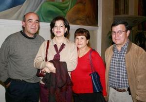 Jorge y Elena Sáenz, Óscar y Lilia Rocha.