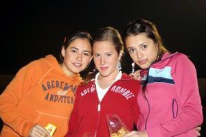 Shubolsa Garza, Paty Barroso y Cristy Ruiz.