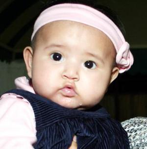 Alma de los Ángeles Espinoza Chávez en una fotografía a sus cuatro meses de edad.