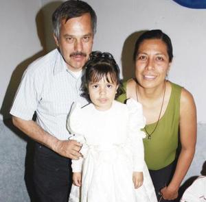 Norma Alicia  Vázquez González celebró sus tres años de vida.