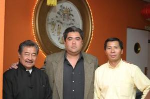 Hugo Pang, Enrique Cuan y Manuel Lee Soriano