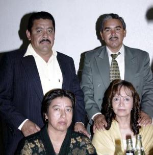 Benigno García, Rosa María Ramos, Atanacio Castañeda y Griselda Castillo.