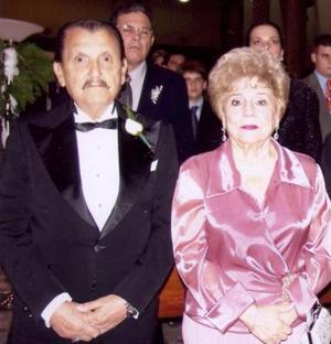Pablo del Valle y Bertha Arzagoitia de Del Valle, abuelitos dela Novia.